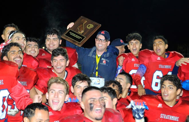 Strathmore against Adelanto during a CIF SoCal Regional Championship Bowl Game on November 30, 2018 at Strathmore High School.