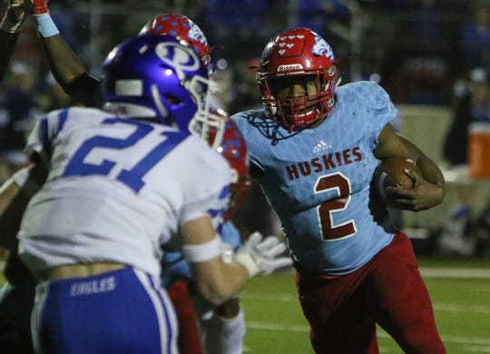 Fred Fleeks (2) and the Hirschi Huskies look to contend with district favorites Decatur and Springtown.