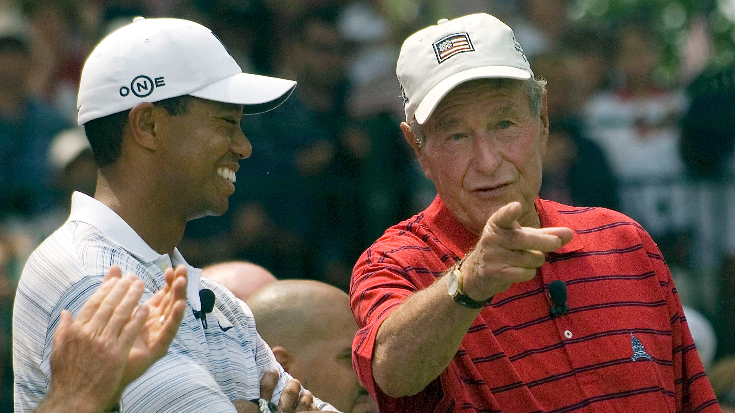 George H W Bush Tiger Woods Says The Late President Was
