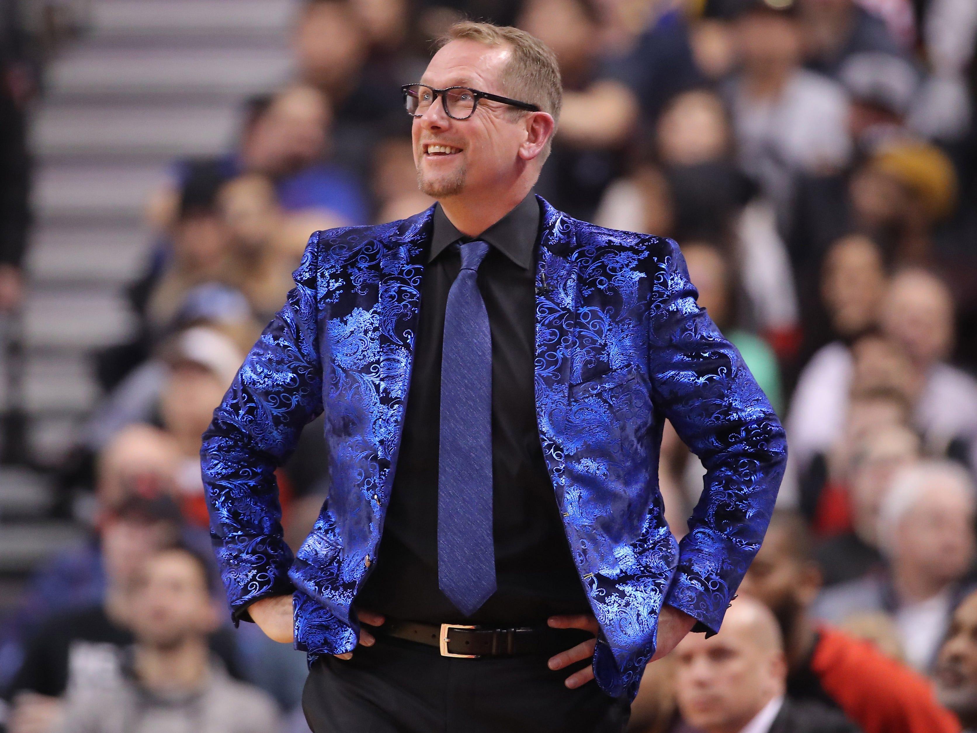 Nov. 29: Toronto Raptors coach Nick Nurse