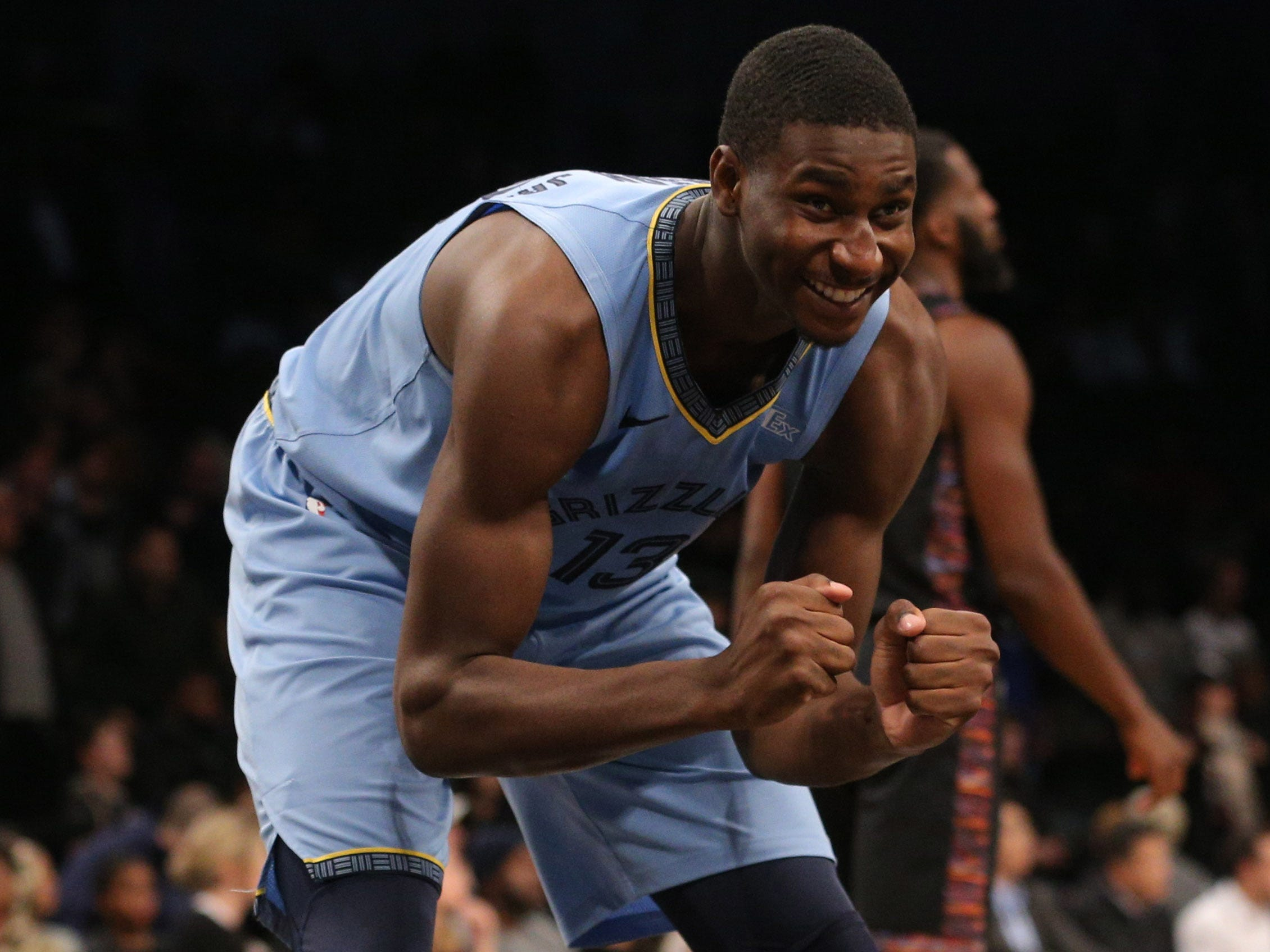 Nov. 30: Grizzlies forward Jaren Jackson Jr. couldn't believe the call during the second overtime against the Nets in Brooklyn.