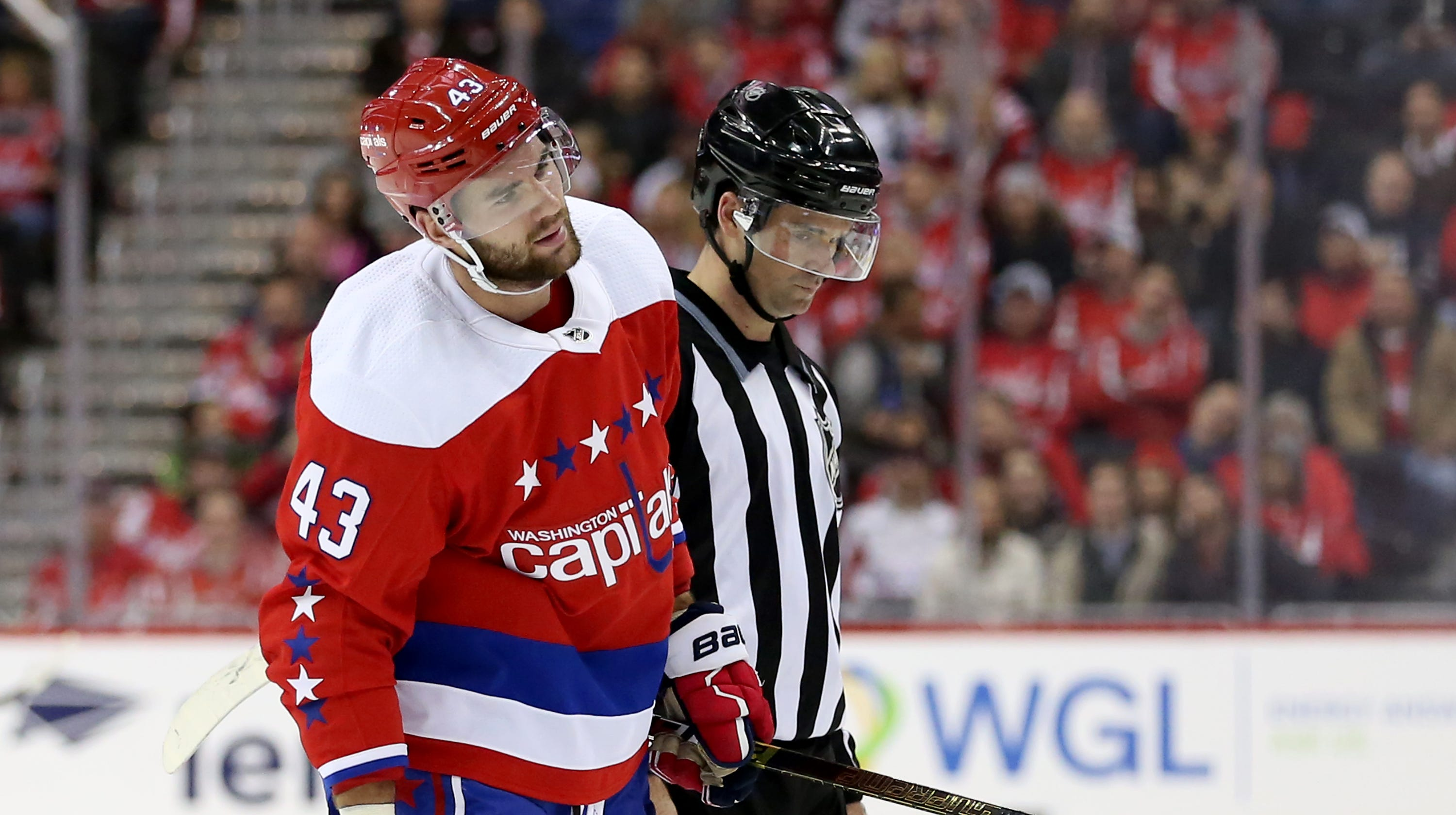 quality design 5a1f7 ac061 Capitals' Tom Wilson ejected in ninth game back from suspension