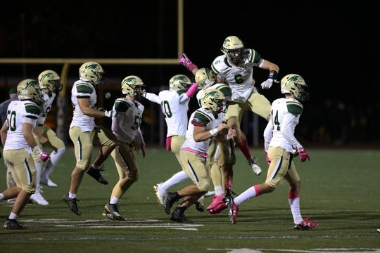 RBC wins 14-13 during the Red Bank Catholic and Rumson-Fair Haven football game at Rumson-Fair Haven High School in Rumson, NJ Friday, October 19, 2018.