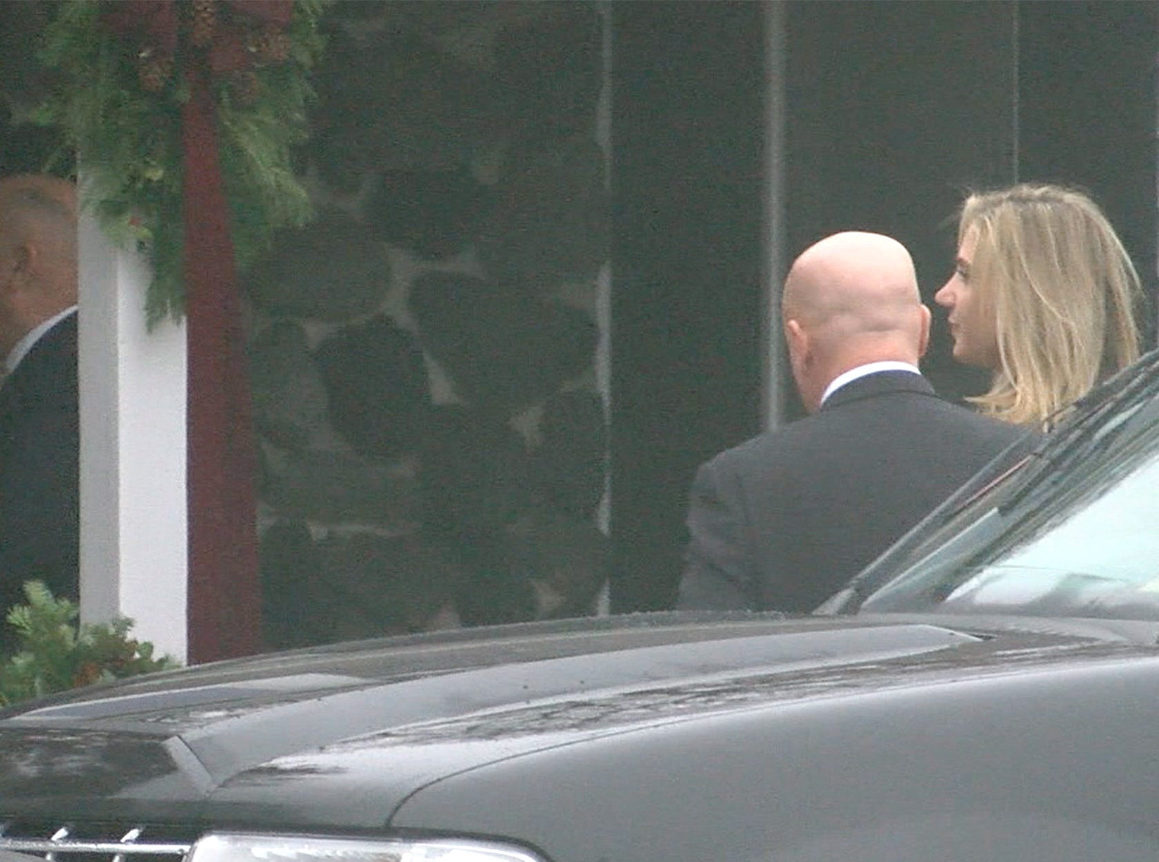 Family members arrive at the Holmdel Funeral Home where the viewing and funeral was being held for the four members of the Caneiro family who were killed in an arson fire at their Colts Neck home.  Paul Caneiro has been charged in their deaths.