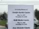Rear of memorial card