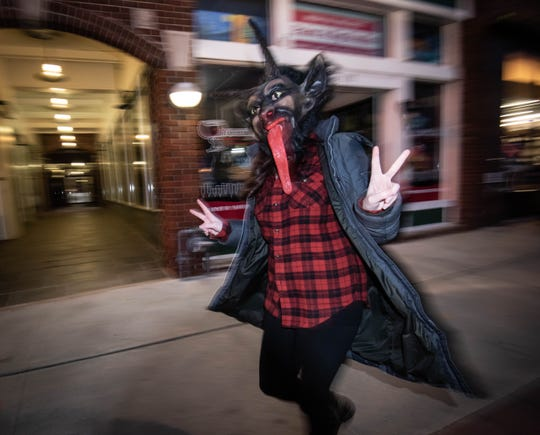 12/1/18- Krampus is celebrated along   Cookman Ave. Asbury Park