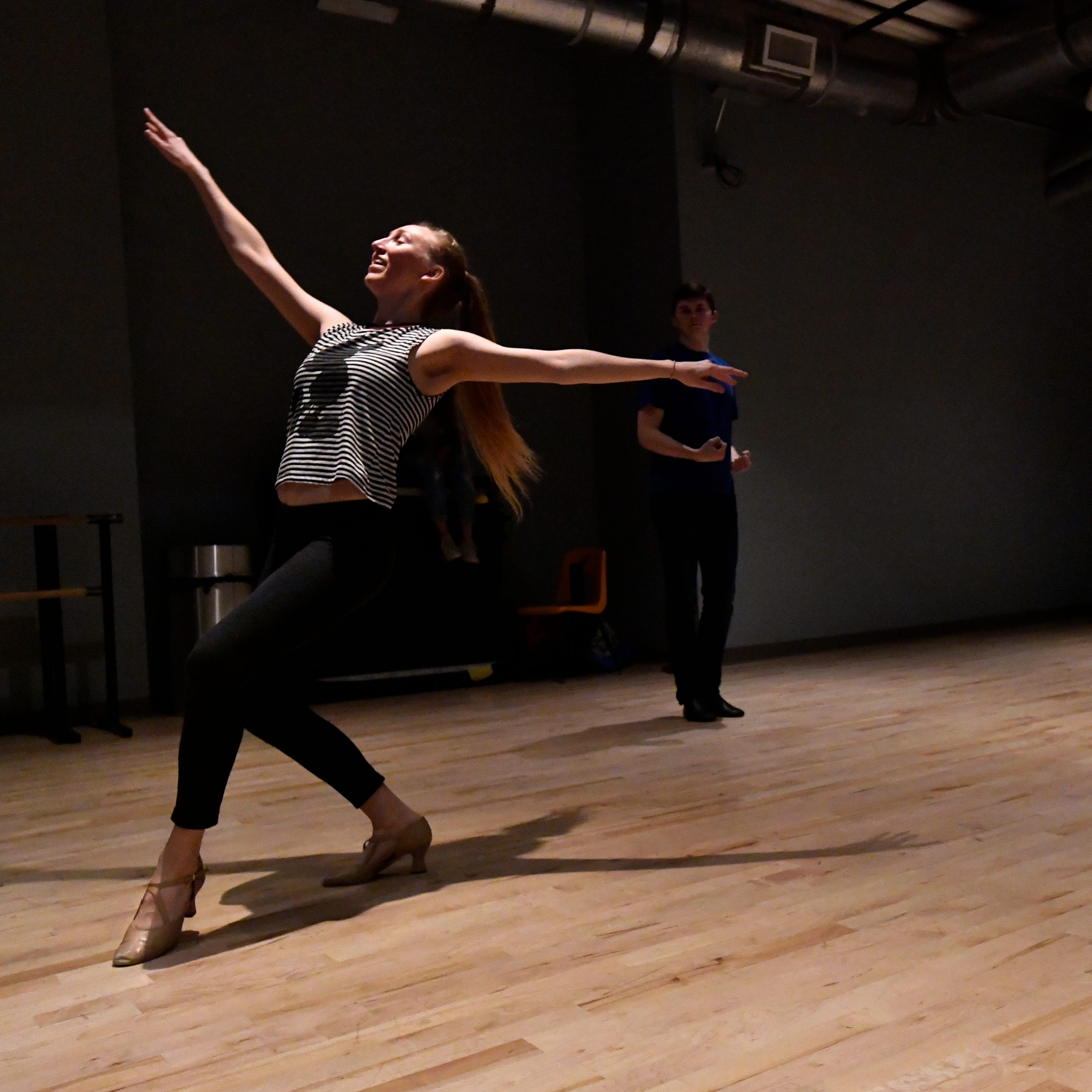 """Jill Jackson rehearses with other dancers Saturday Dec. 1, 2018 for """"One Night Only"""", the first solo performance of the Abilene Christian University Dance track on Saturday Dec. 8."""
