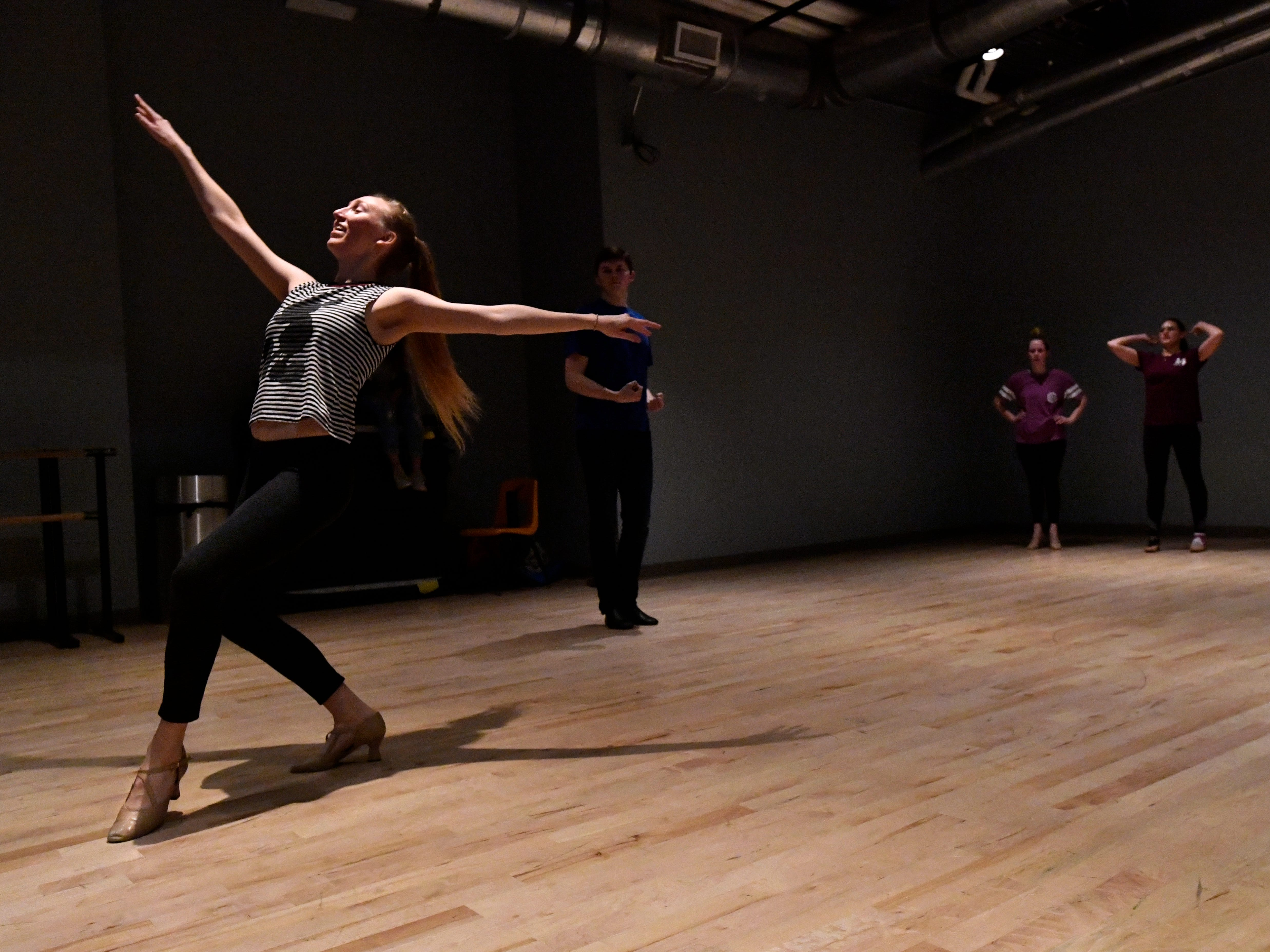 "Jill Jackson rehearses with other dancers Saturday Dec. 1, 2018 for ""One Night Only"", the first solo performance of the Abilene Christian University Dance track on Saturday Dec. 8."