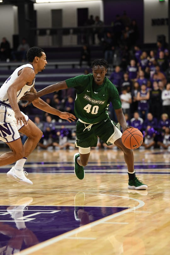 Binghamton University sophomore Albert Odero, who starred in high school for Oneonta High, is averaging 6.3 points this season.
