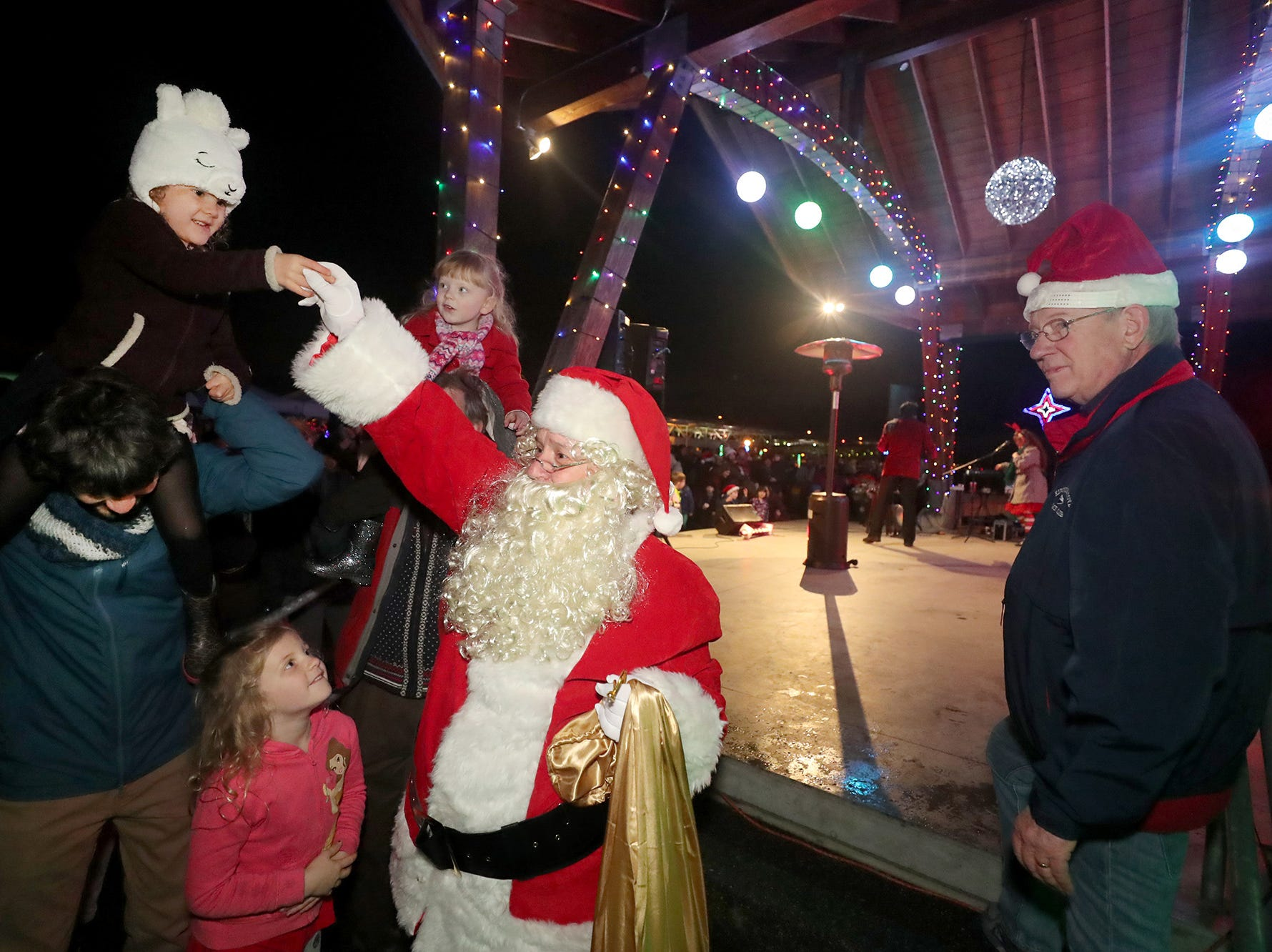 The Kingston Cove Christmas celebration on Saturday, December 1, 2018, at Mike Wallace Park in Kingston.The highlight of the event was the arrival of Santa and the Christmas tree, and park lighting.