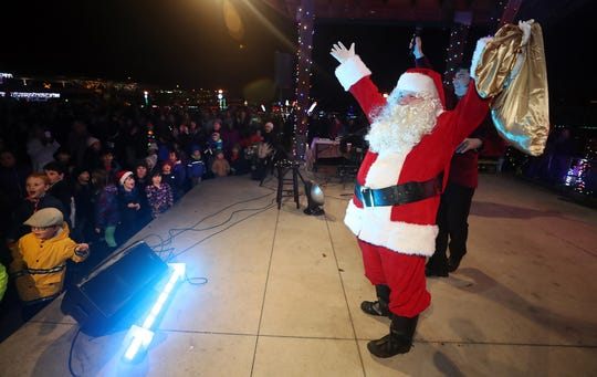 The Kingston Cove Christmas celebration on Saturday, December 1, 2018, at Mike Wallace Park in Kingston.The highlight of the event was the arrival of Santa and the Christmas tree, and park lighting. Santa counts down the tree and park lighting.