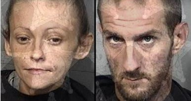 Melinda Gallegos and Shawn Overton, both of Palm Bay, were charged after police say they attacked a man with baseball bats in Palm Bay.