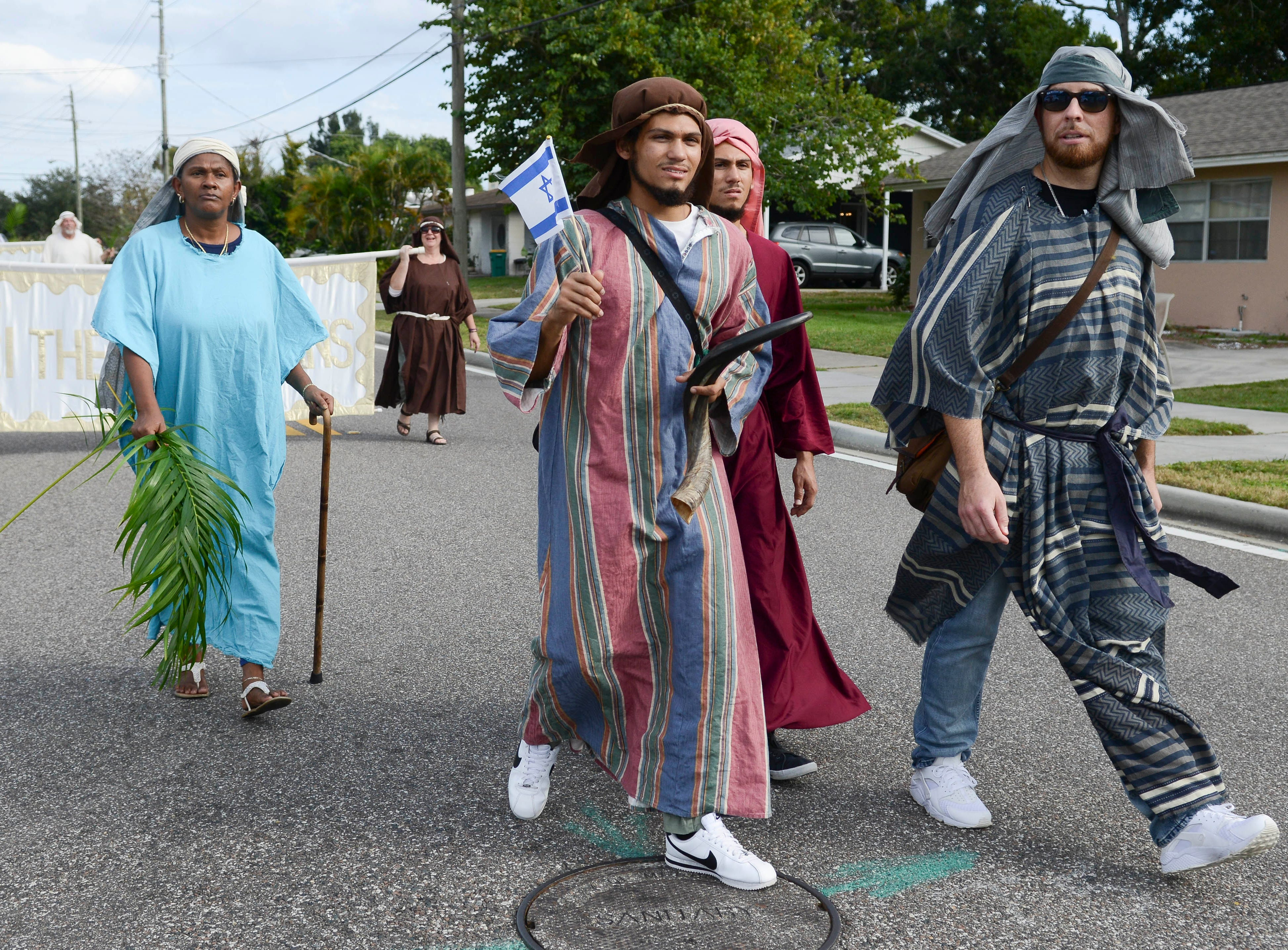 Scenes from the 2018 Bible on Parade through the streets of Melbourne, FL. Dozens of area church congregations participated in the annual event.