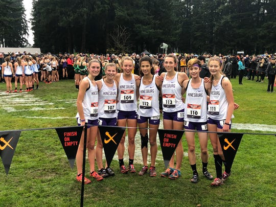 The CVU team poses after finishing 19th at Nike Cross Nationals on Saturday.
