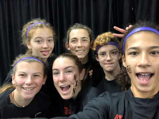 The CVU team poses for a selfie at the Nike Cross Nationals.