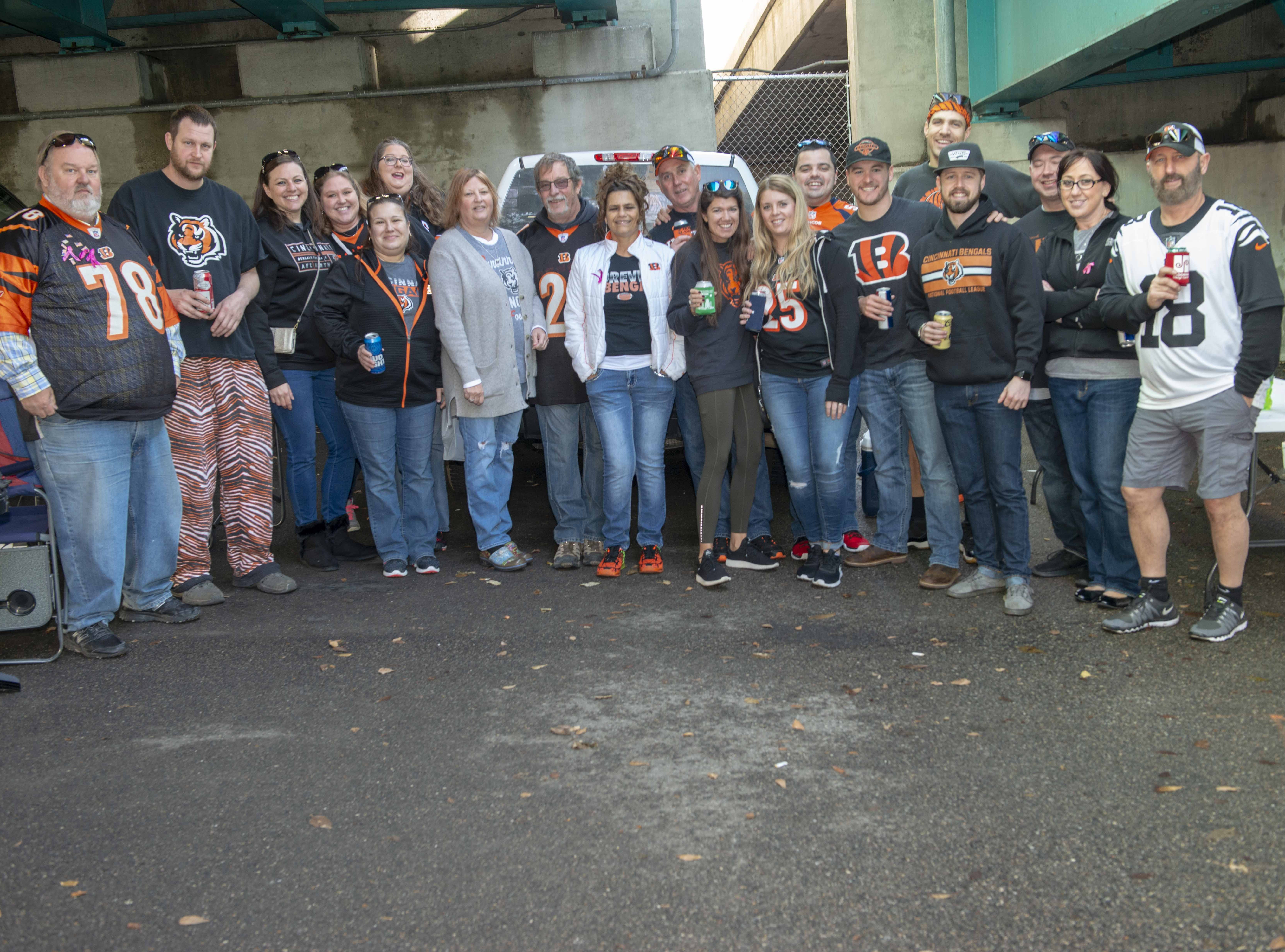 Cincinnati Bengals fans showed up for tailgating parties as the Cincinnati Bengals hosted the Denver Broncos at Paul Brown Stadium Sunday, December 2, 2018. The Ronnie Brock Group of Norwood.