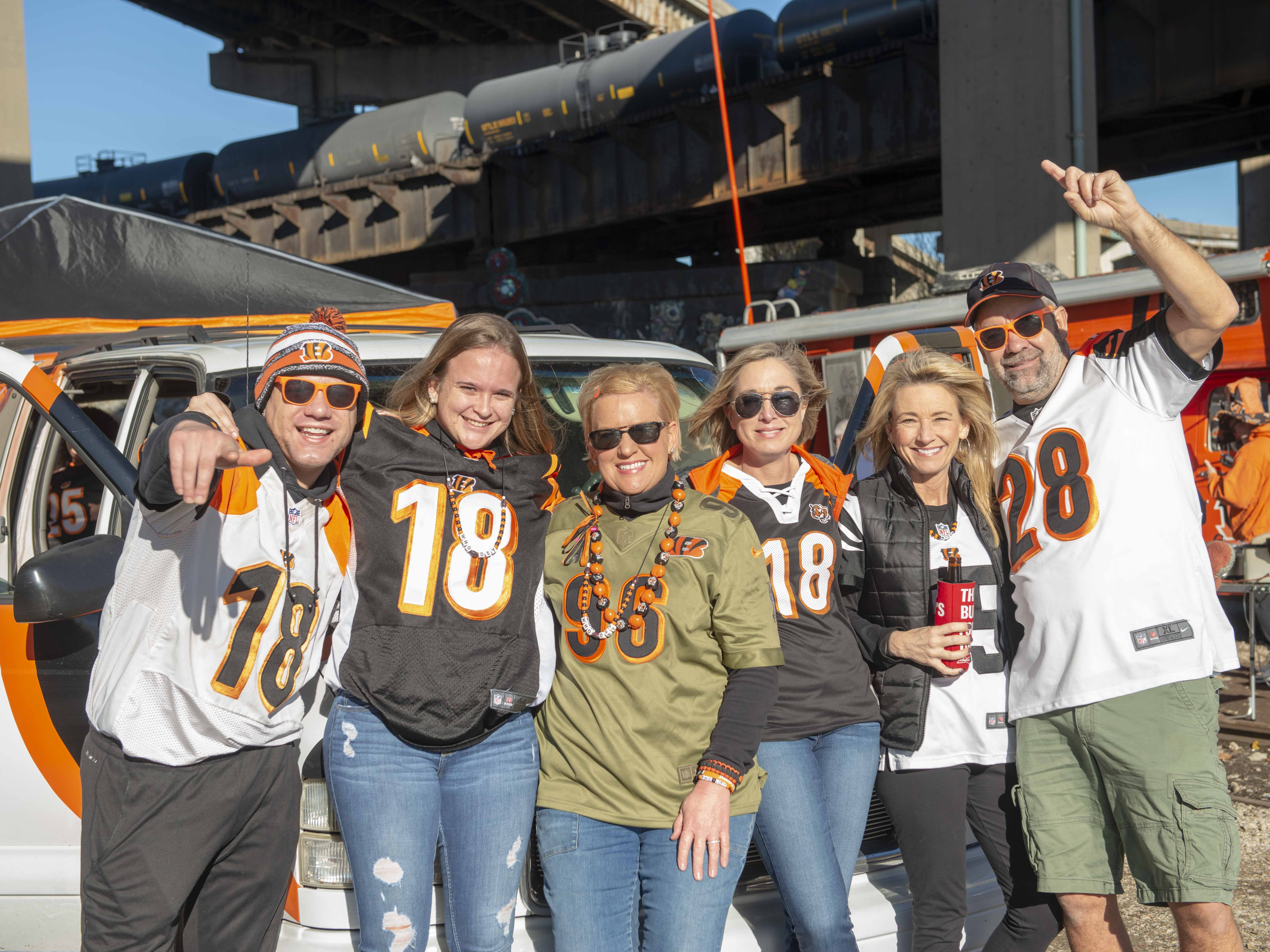 Cincinnati Bengals fans showed up for tailgating parties as the Cincinnati Bengals hosted the Denver Broncos at Paul Brown Stadium Sunday, December 2, 2018. The Jungle Juice from Cass Town, OH.