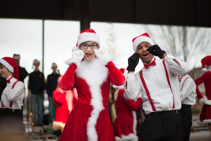 Local high schools performed Christmas songs and dances at the Spirit Fest on Saturday, Dec. 1, 2018, in Clarksville, Tenn, Dec. 1, 2018, in Clarksville, Tenn.