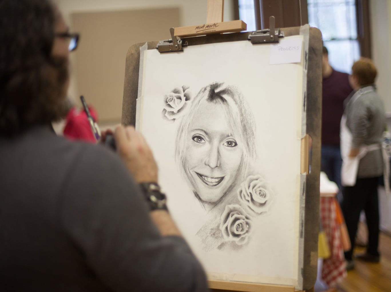 The First Presbyterian Church hosted a local artists' exhibition where artists sold their wares and some took commissions for portraits on Saturday, Dec. 1, 2018, in Clarksville, Tenn.