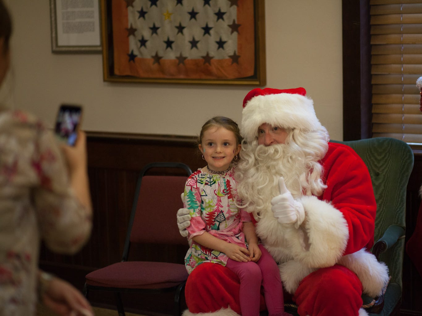 Santa Claus stopped by the Trinity Episcopal Church on Saturday to visit with Clarksville children, Dec. 1, 2018, in Clarksville, Tenn.