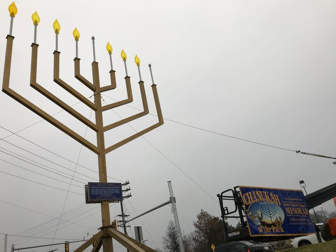 NJ's largest menorah was lit on Dec. 2 in Monroe for the 17th year to celebrate Hanukkah.