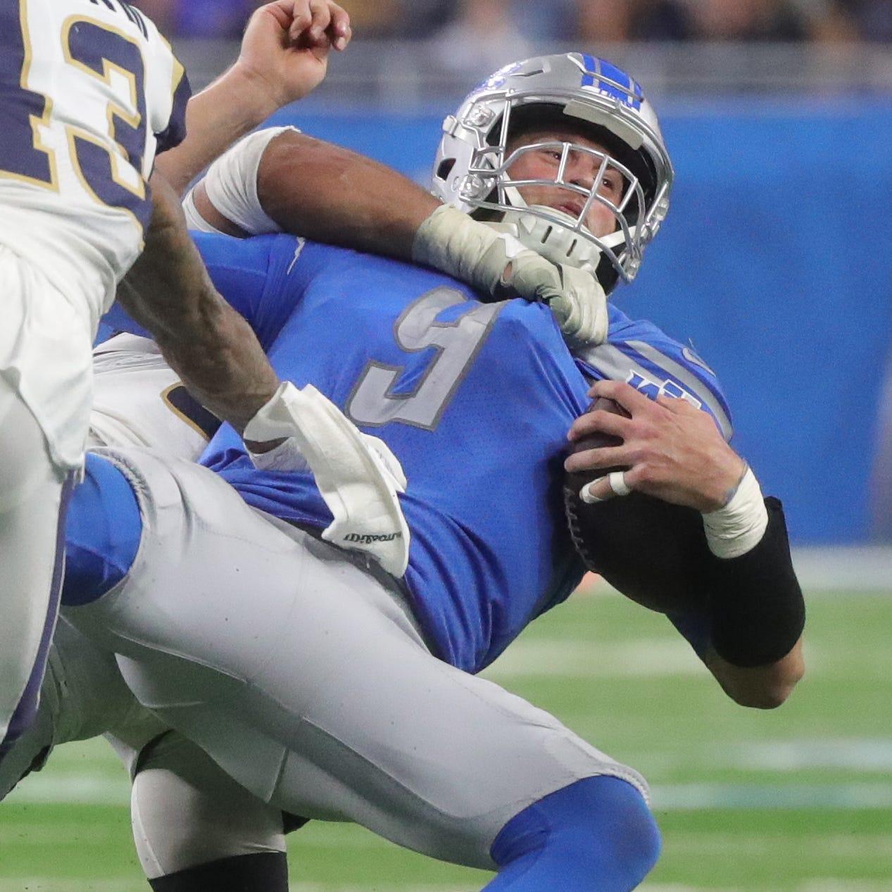 Detroit Lions quarterback Matthew Stafford is...