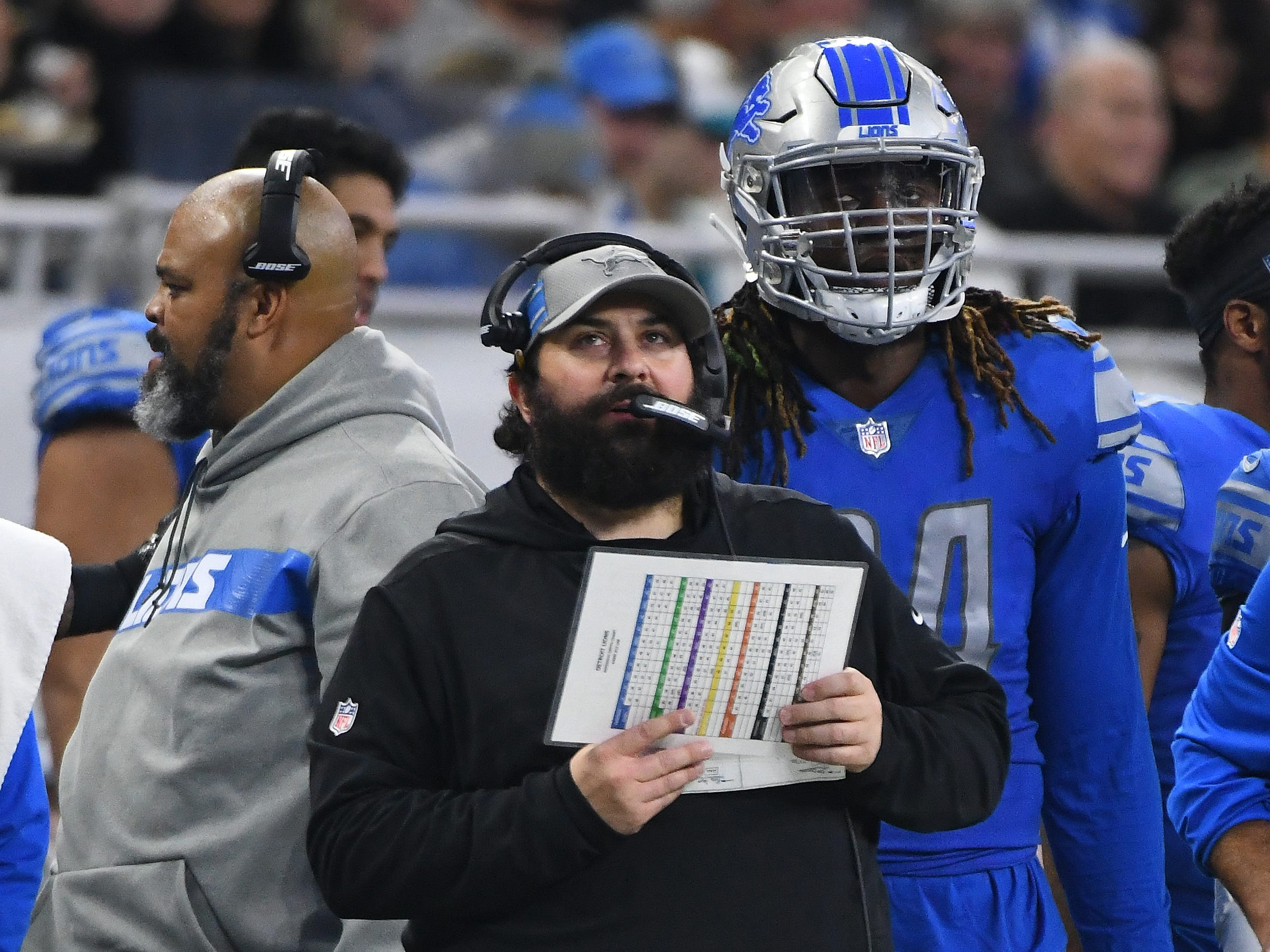 Detroit Lions head coach Matt Patricia in the second quarter.