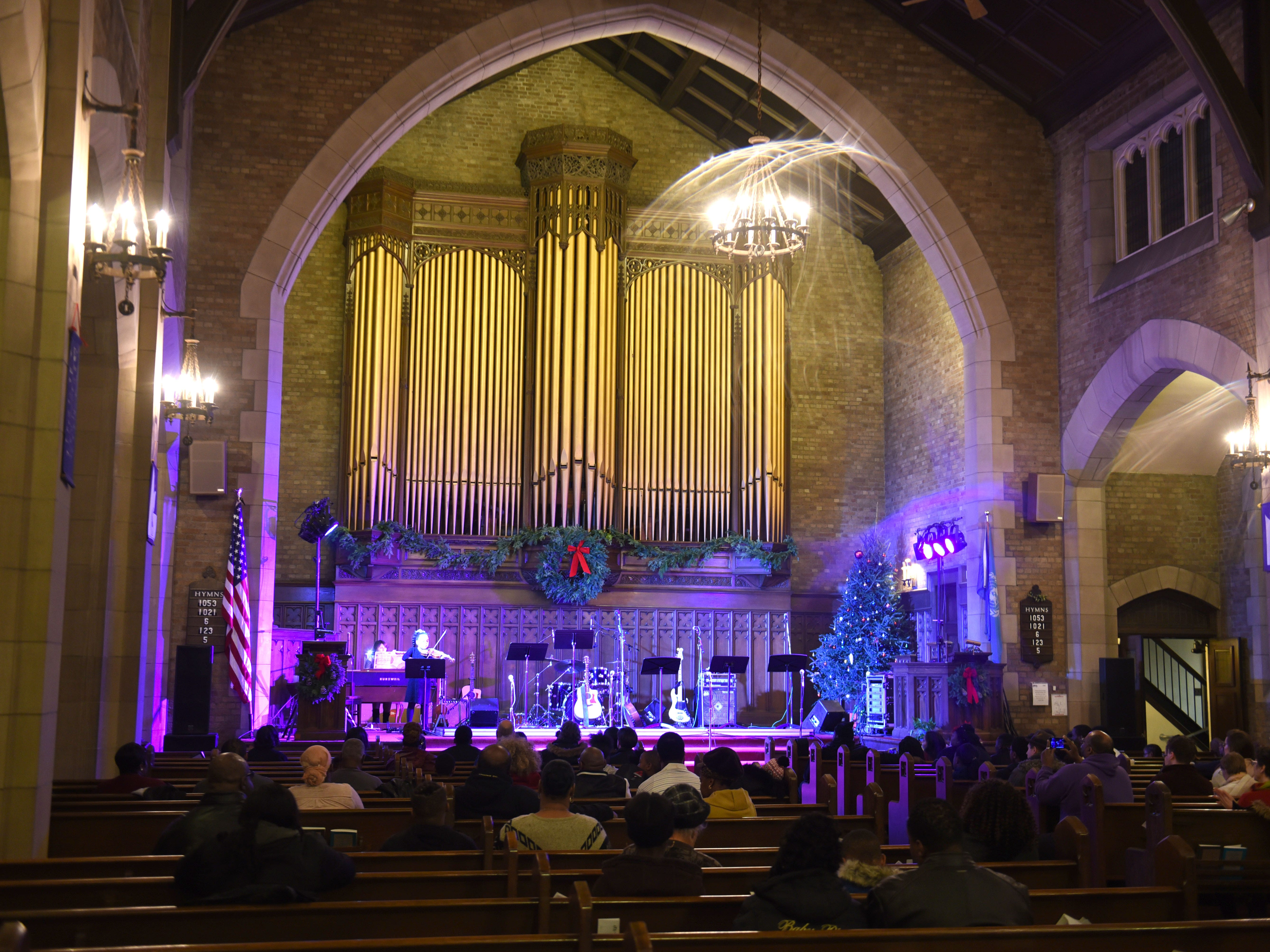 People watched performances at the First Unitarian Church during Noel Night in midtown Detroit on Saturday, December 1, 2018..