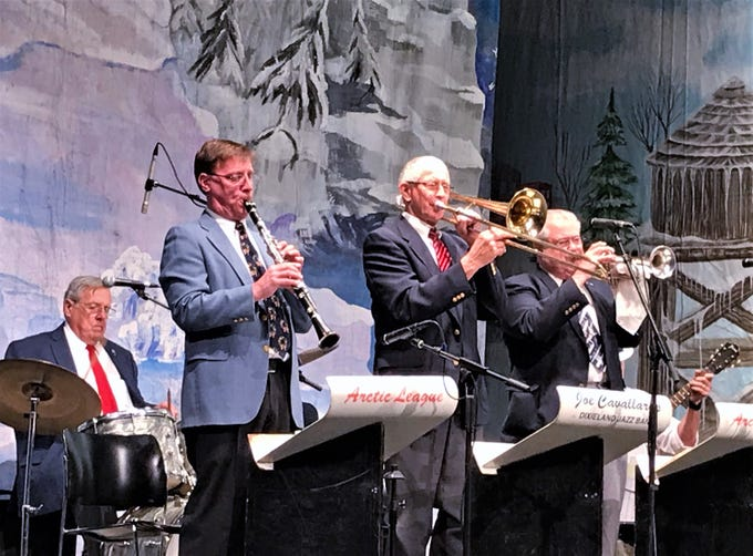 The Arctic League Orchestra performs a song during Sunday's annual broadcast at the Clemens Center in Elmira.