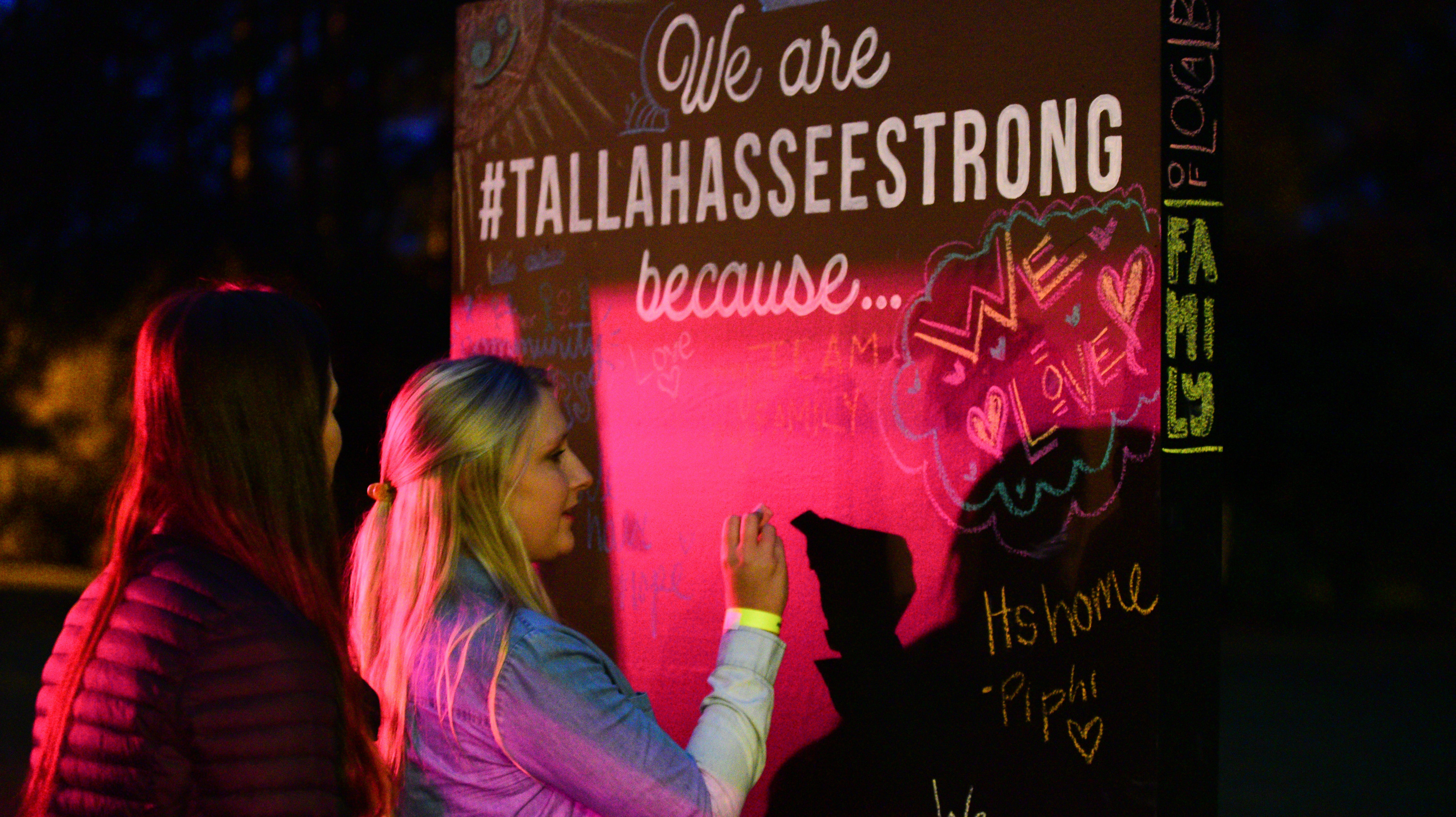 FSu students organized a fundraiser for the victims of the Hot Yoga shooting at the President's House on Monday.