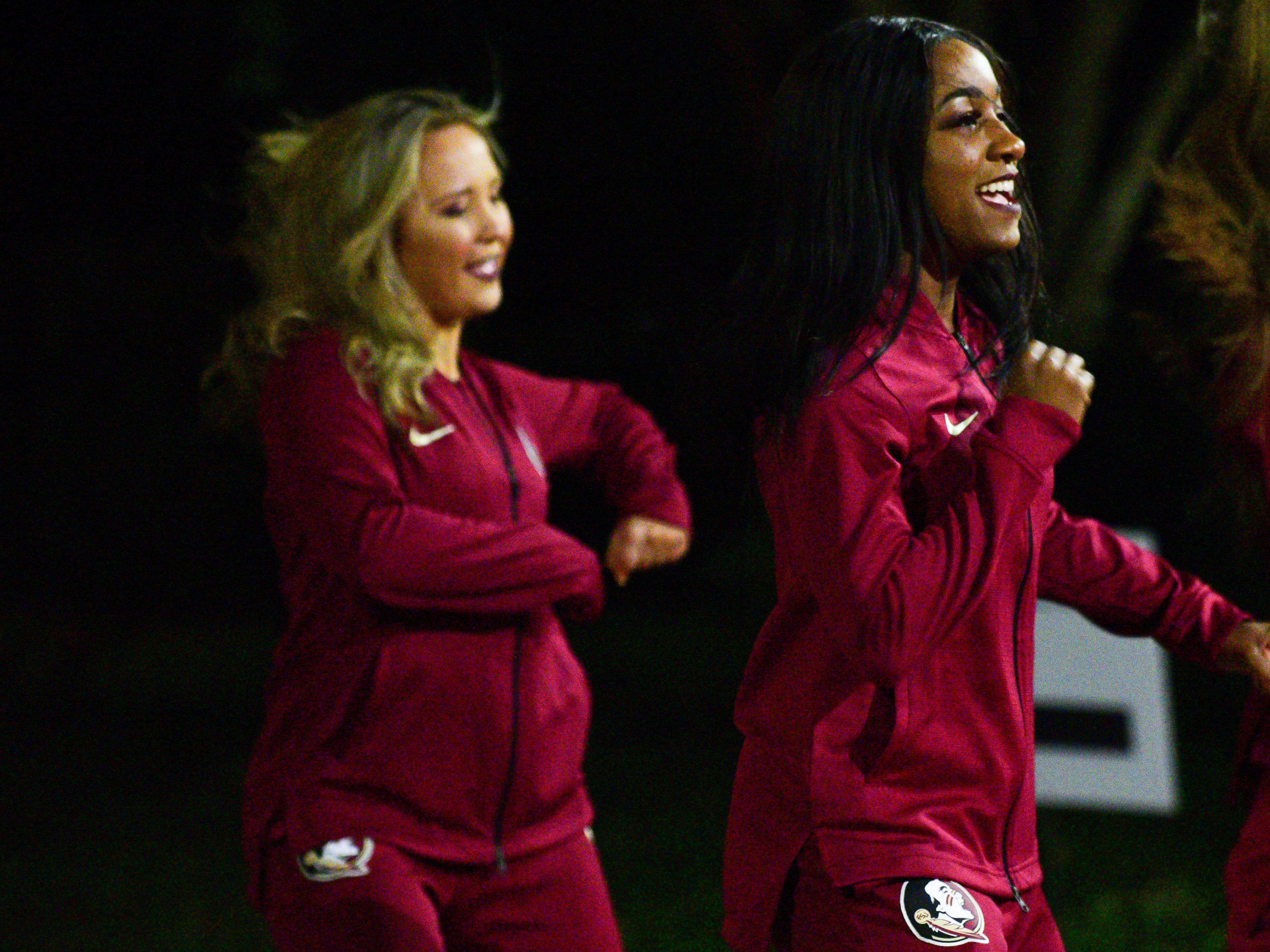 The Florida State Golden Girls perform at a fundraiser for the Hot Yoga shooting victims at the President's House on Monday.