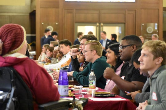 Attendees from both sides of the political spectrum were encouraged to discuss controversial political topics and learn more about others' opinions.