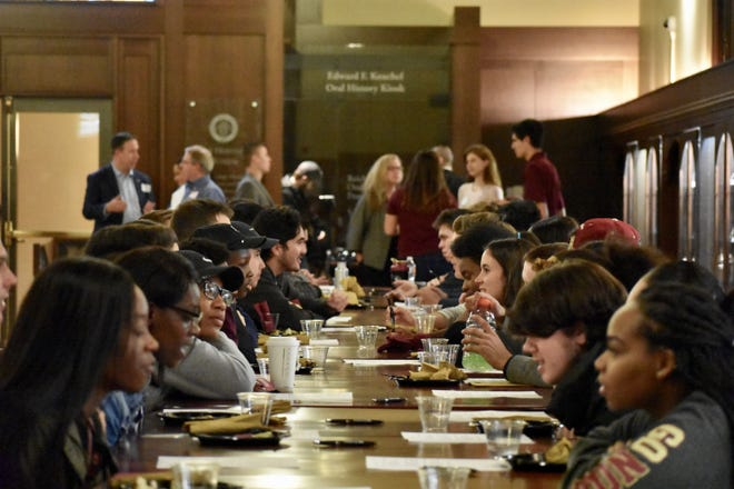 Last week, students, faculty and community members gathered in Dodd Hall's Heritage Museum to engage in civil discourse and promote political tolerance.