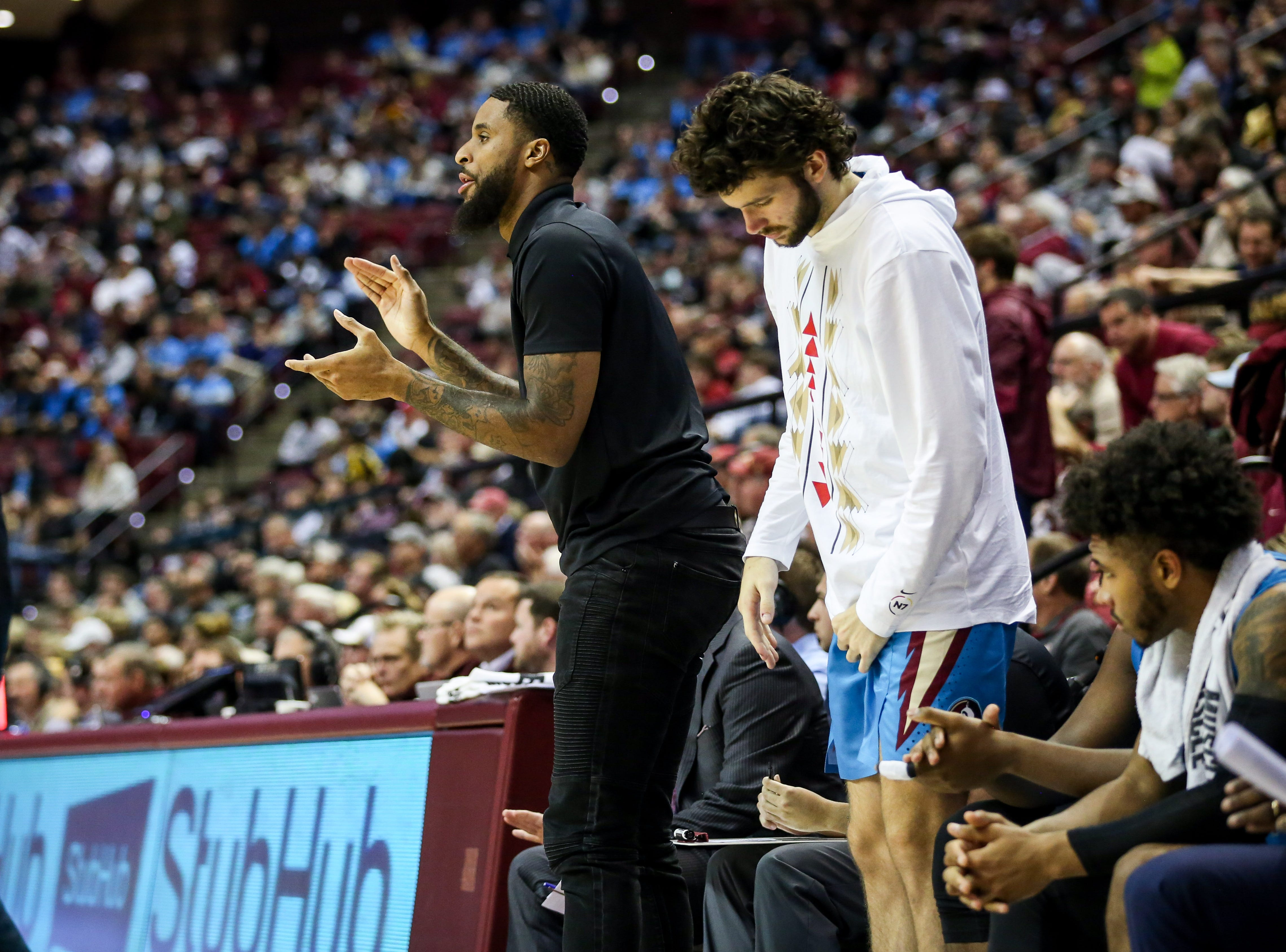Injured Senior Forward, Phil Cofer, was in attendance cheering on his teammates against Purdue on Wednesday, November 28th.