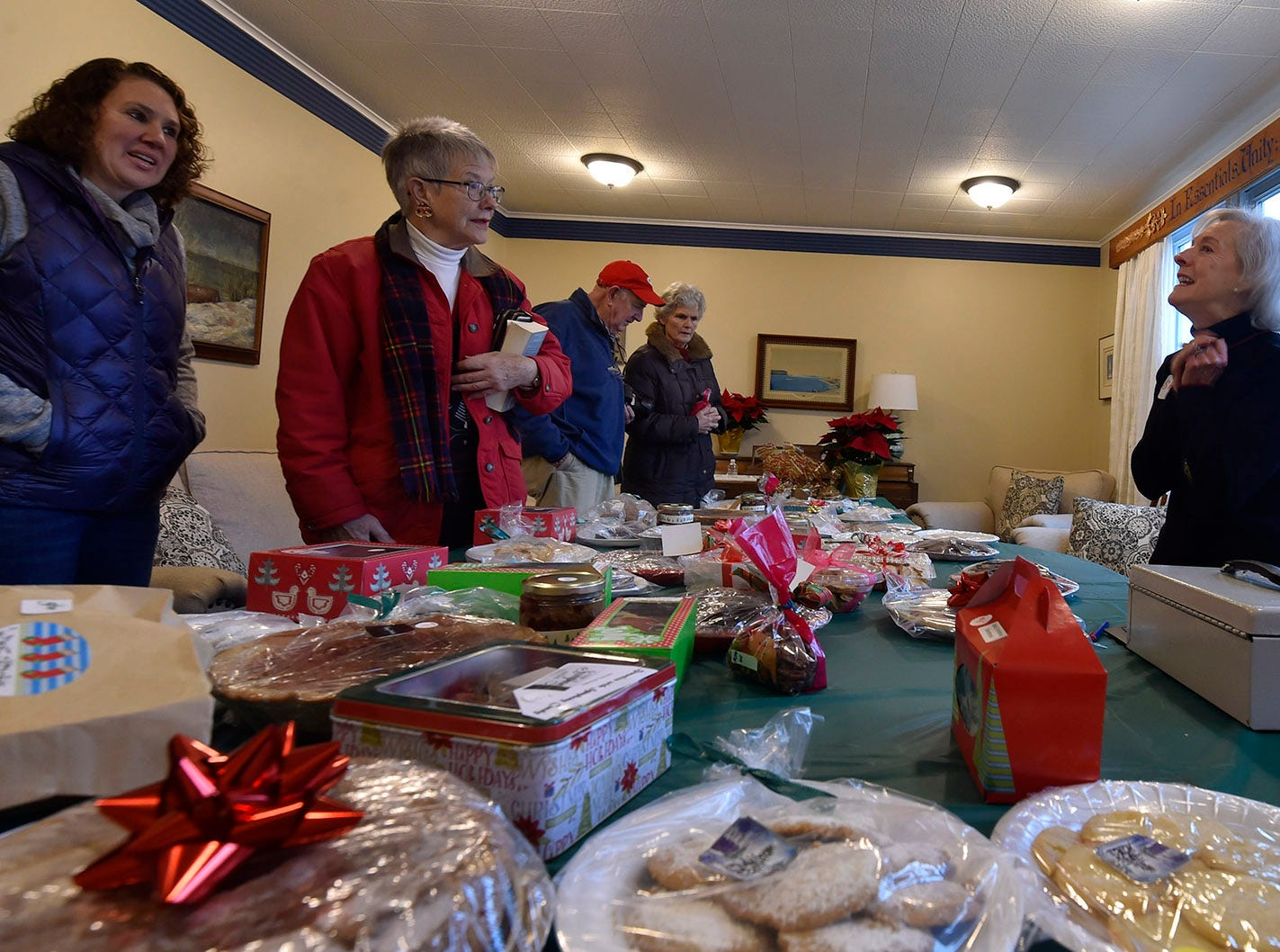 Many holiday sweets at the  annual fund-raising bake sale at Ephraim Moravian Church during Christmas in the Village in Ephraim on Saturday, Dec. 1, 2018. Tina M. Gohr/USA TODAY NETWORK-Wisconsin