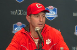 Dabo Swinney and Travis Etienne ACC Championship post game press conference