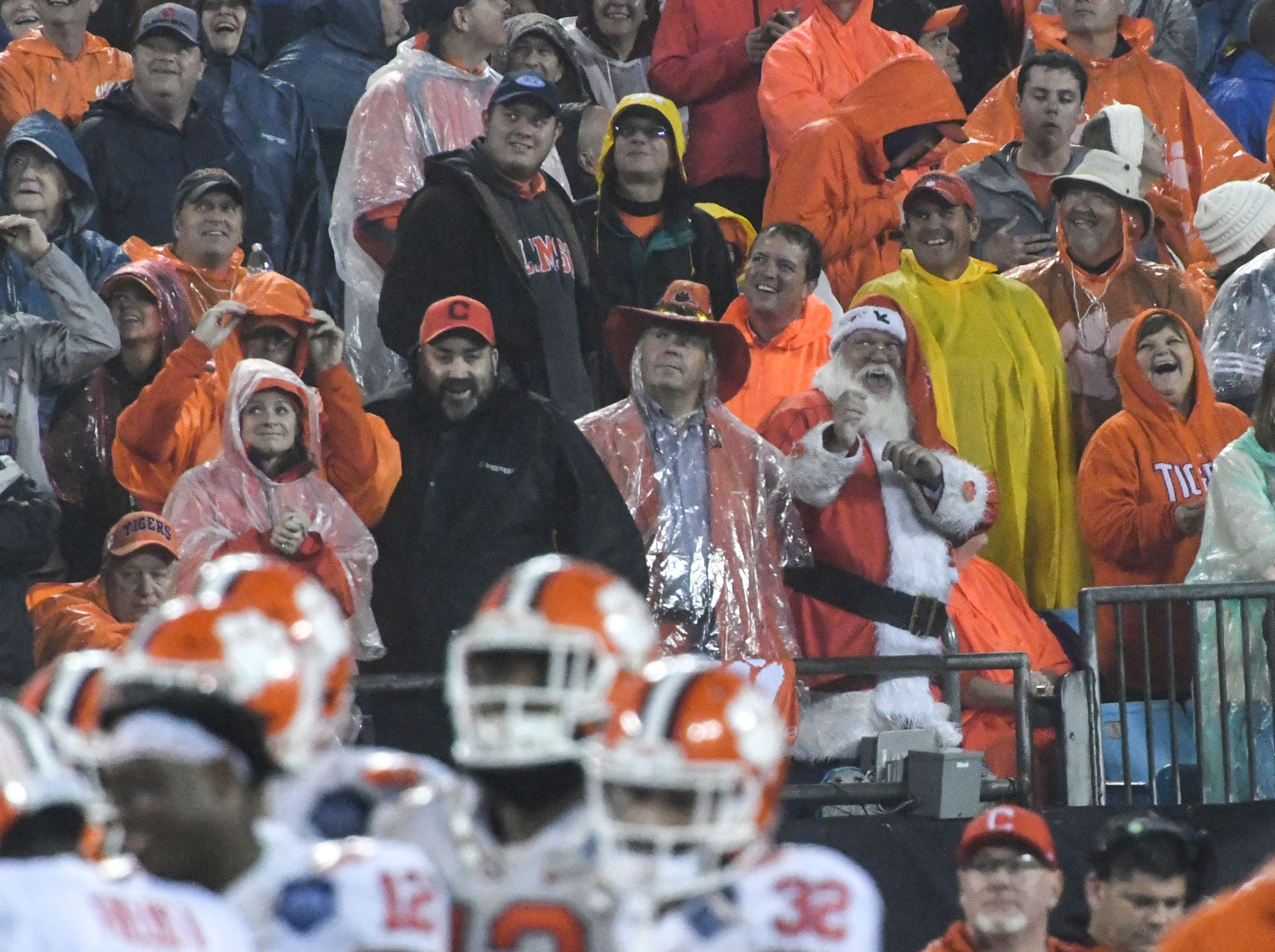 Clemson fans watch during the fourth quarter in Memorial Stadium on Saturday, November 3, 2018.