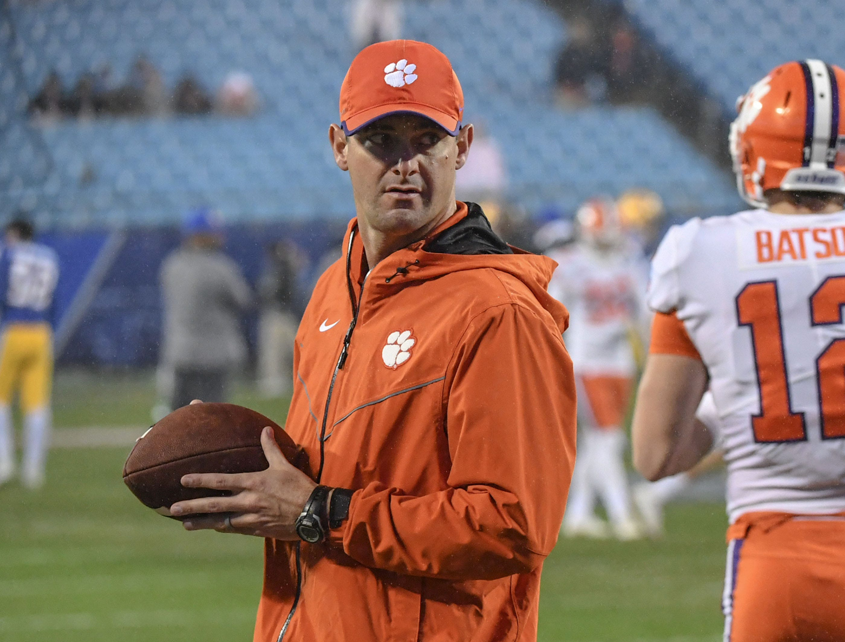 Clemson co-offensive coordinator Jeff Scott before the game of the Dr. Pepper ACC football championship at Bank of America Stadium in Charlotte, N.C. on Saturday, December 1, 2018.