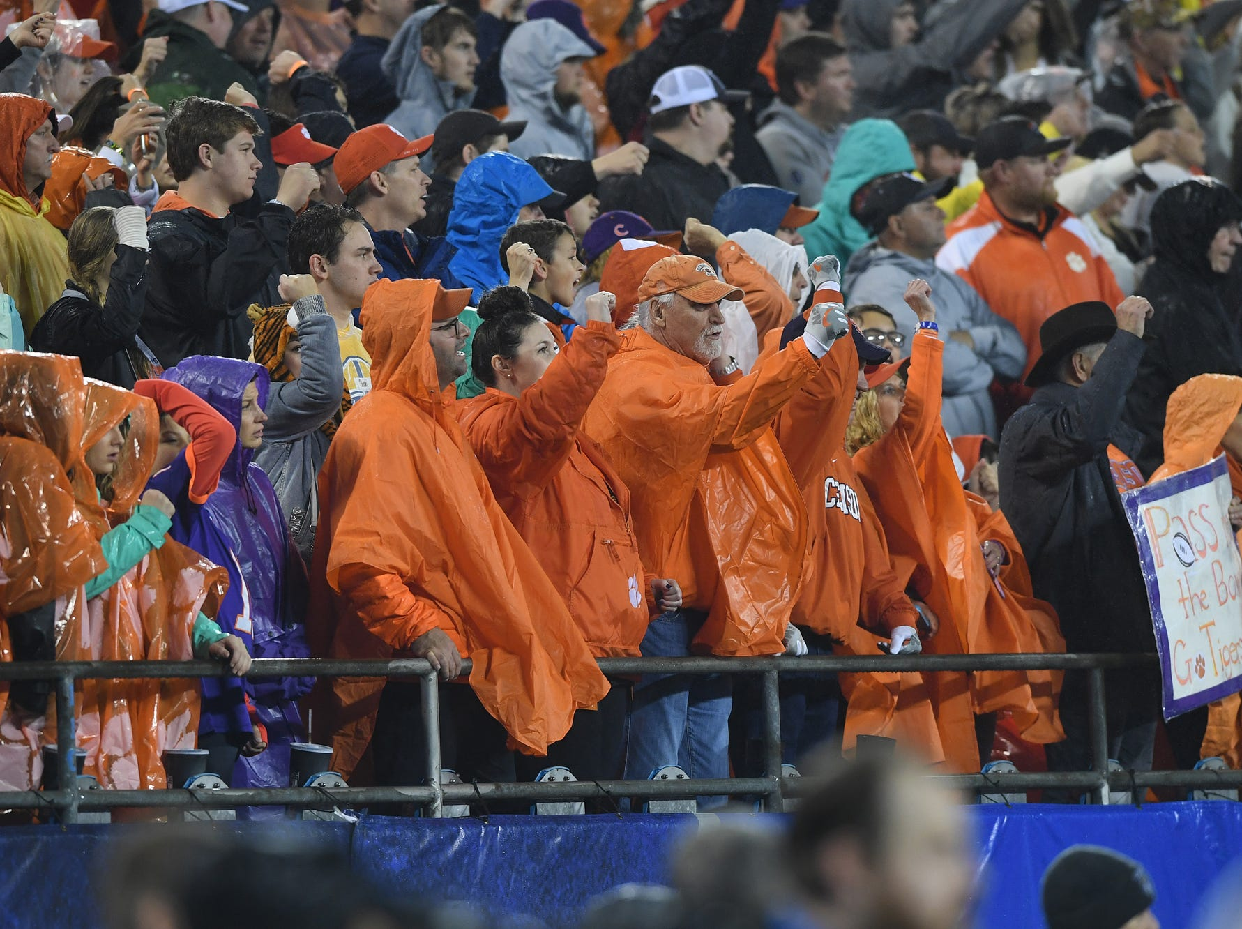Clemson fans during the 1st quarter of the Dr. Pepper ACC Championship at Bank of America Stadium in Charlotte, N.C. Saturday, December 1, 2018.
