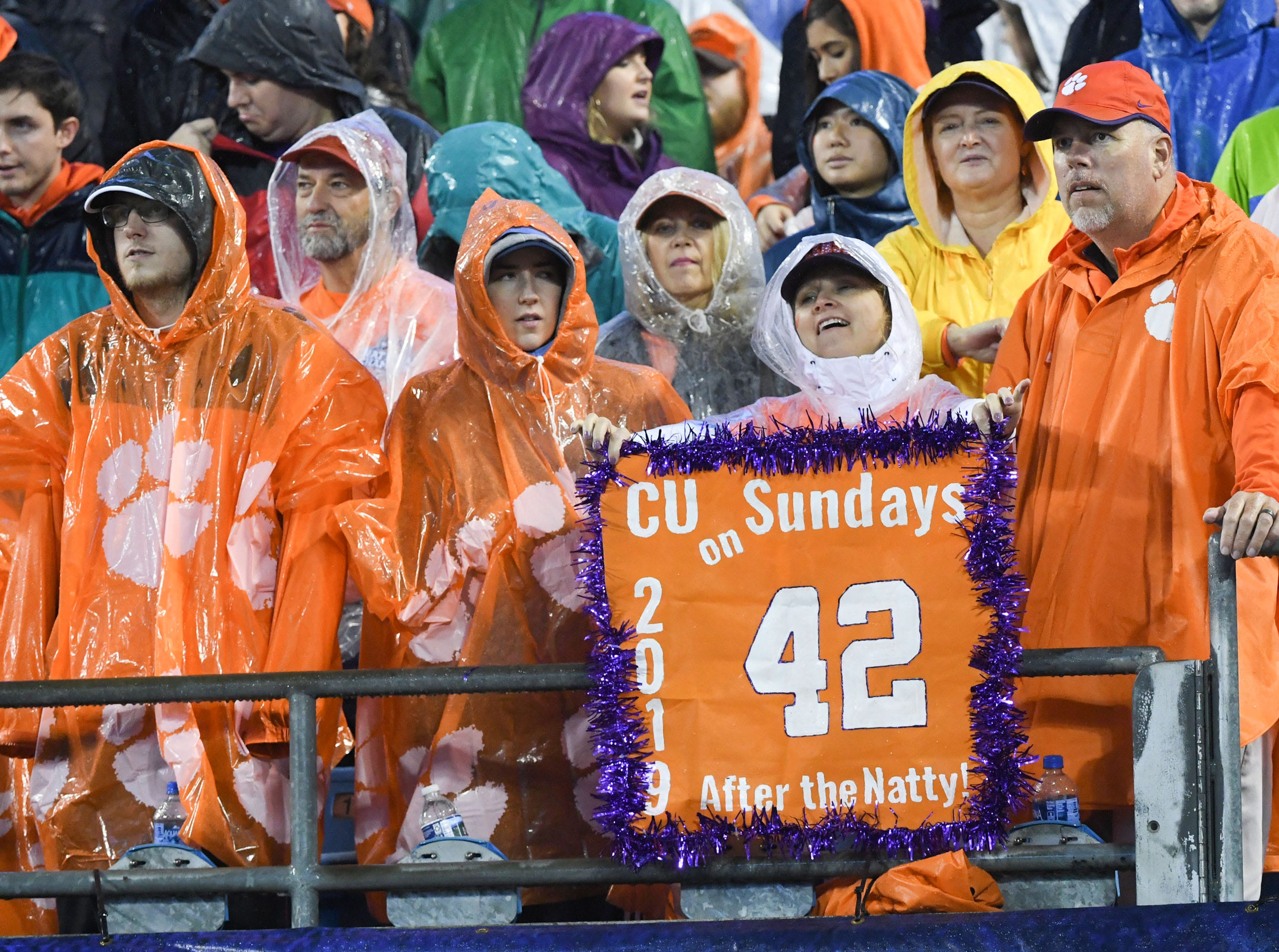 Clemson fans during the first quarter of the Dr. Pepper ACC football championship at Bank of America Stadium in Charlotte, N.C. on Saturday, December 1, 2018.