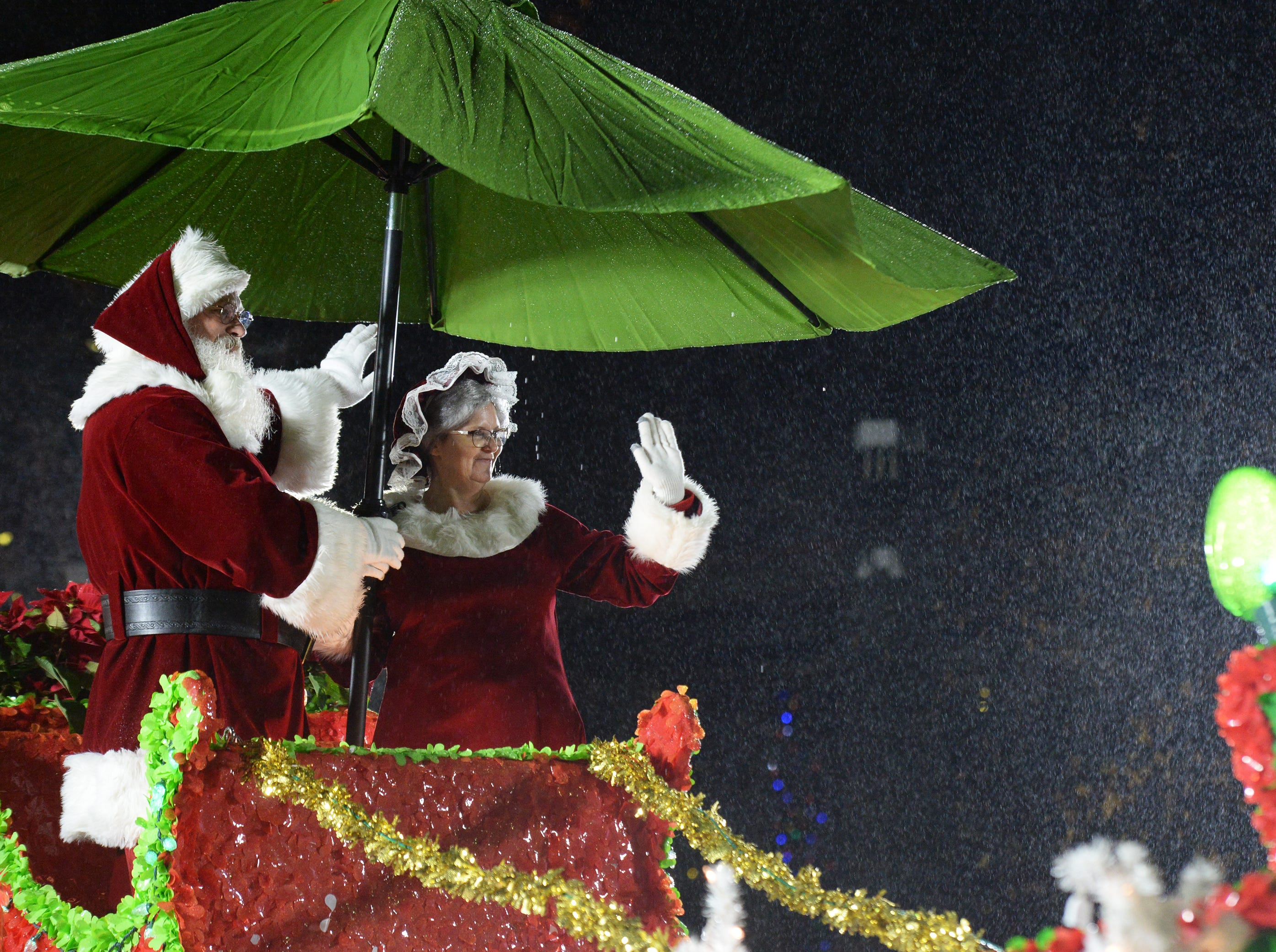 The Greenville Poinsettia Christmas Parade takes place Saturday, Dec. 1, 2018 in downtown Greenville.