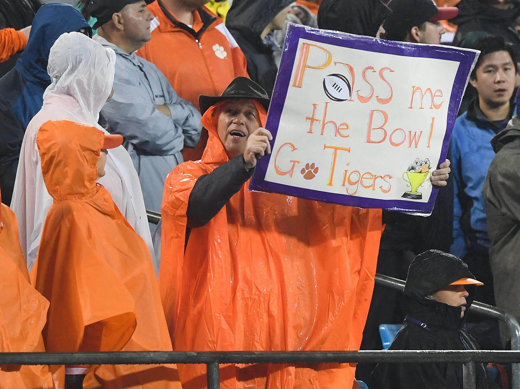 Clemson fans during the 4th quarter of the Dr. Pepper ACC Championship at Bank of America Stadium in Charlotte, N.C. Saturday, December 1, 2018.
