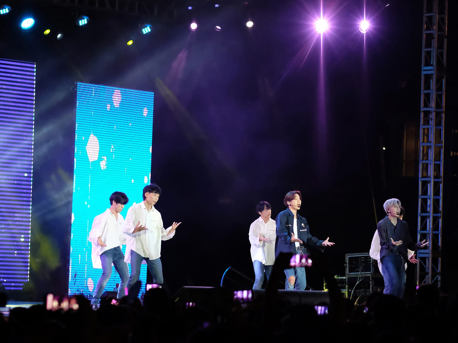 The South Korean K-pop group JBJ95 led by singers Kenta and Sanggyun perform at the MBC Music K-Pop Concert Saturday evening, December 1, 2018 at the Governor Joseph Flores Memorial Park.