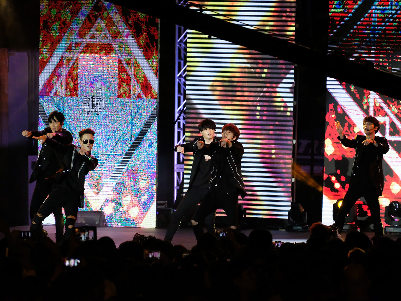 The South Korean K-pop group Supernova performs at the MBC Music K-Pop Concert  Saturday evening, December 1, 2018 at the Governor Joseph Flores Memorial Park.