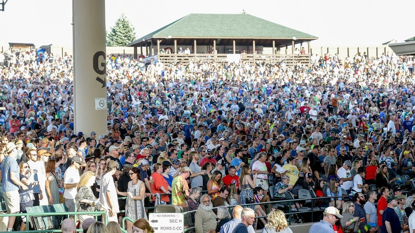 Dead & Company fans gather June 6, 2018, at Ruoff...