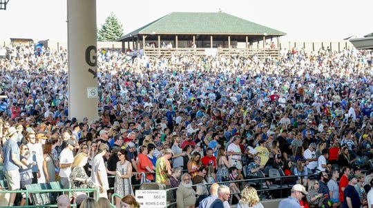 Dead & Company fans gather June 6, 2018, at Ruoff Home Mortgage Music Center.