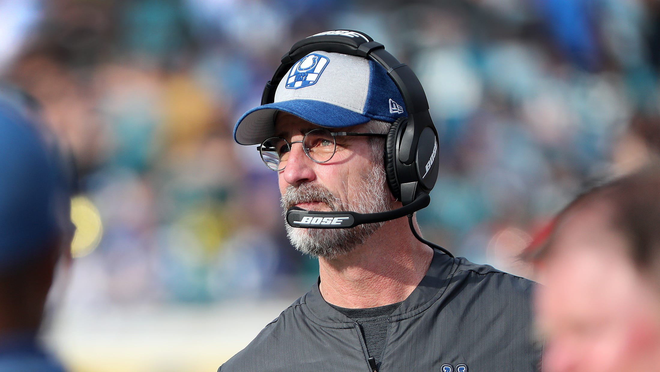Indianapolis Colts head coach Frank Reich late in...