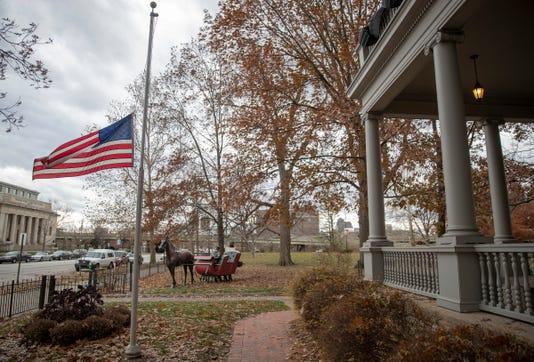 Benjamin Harrison Presidential Site Honors George Bush