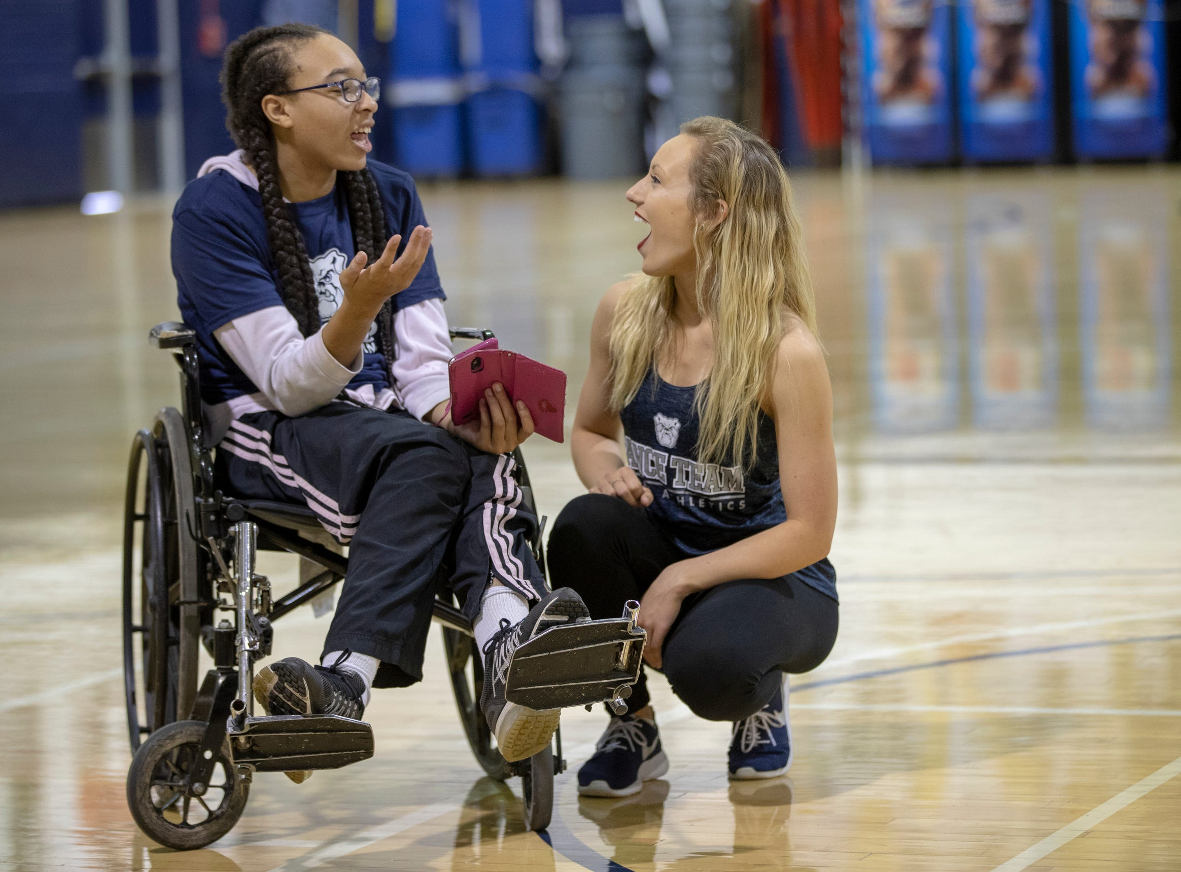 Butler, IU students team up with special needs students to put on a special halftime show