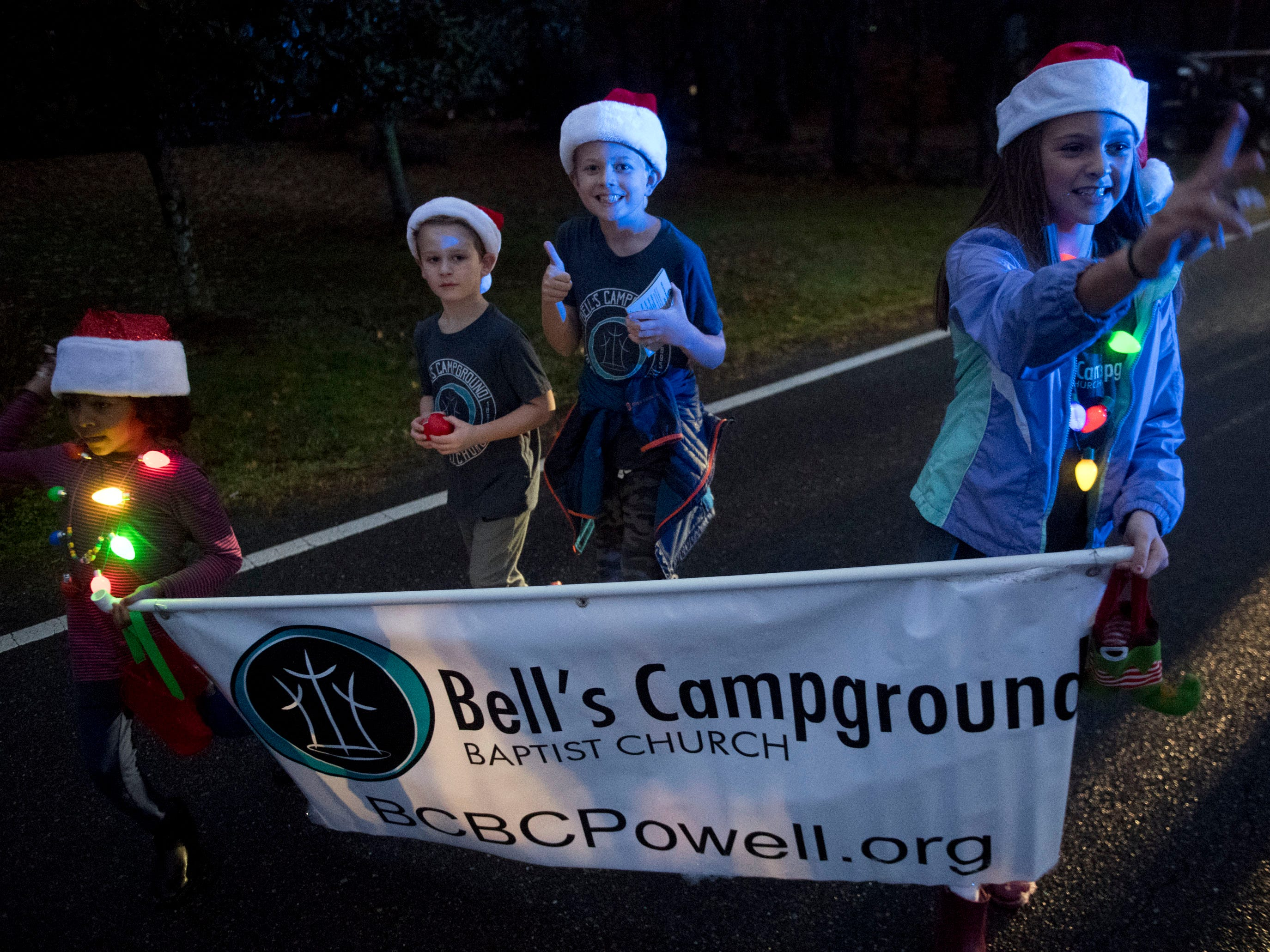 Bell's Campground Baptist Church in the Powell Lions Club Christmas Parade on Saturday, December 1, 2018.